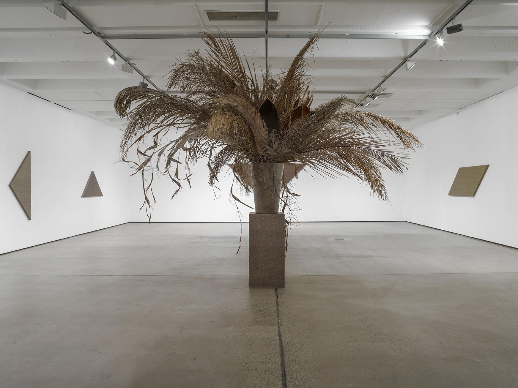 Installation view, 'Ebb Rains', Institute of Modern Art, 2017. Photography: Carl Warner. In view: Willem de Rooij, 'Bouquet XVI', 2015.