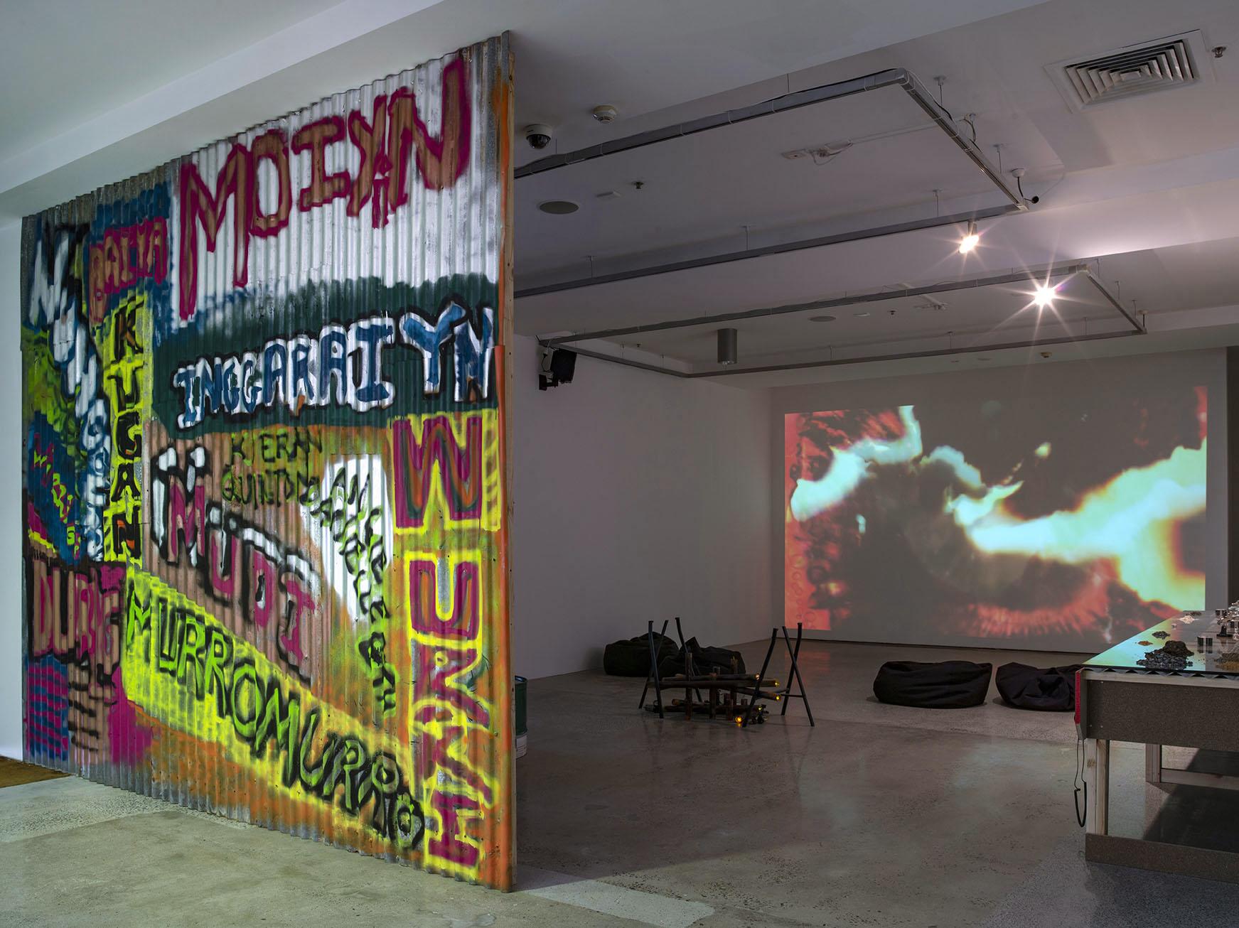 Karrabing Film Collective_The Mermaids_Mirror Worlds_Installation view IMA Brisbane_Photo_Carl Warner