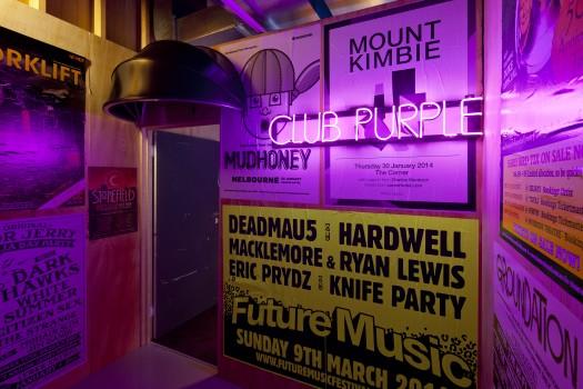 club purple dj night