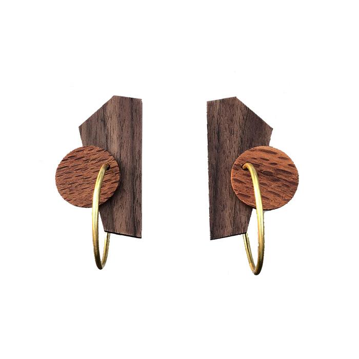 43391316b Kirralee & Co. Wooden Earrings | Institute of Modern Art